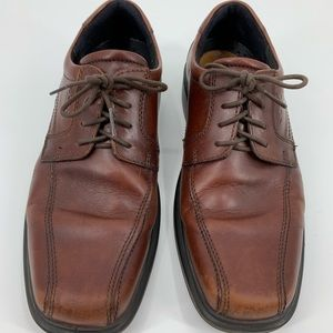 Ecco mens oxfords lace up brown size 43